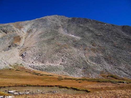 Huron Peak rises above the...