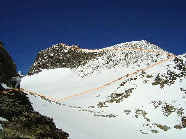 Normal Route from Innsbruck Hut