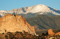 Pikes Peak summit behind...