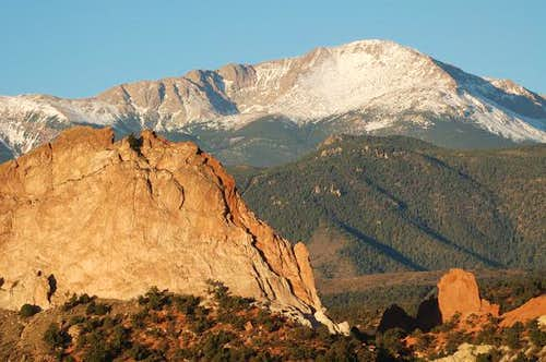 Pikes Peak summit behind...