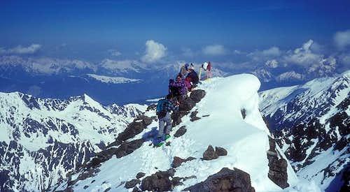 on Sulzkogel summit - looking...