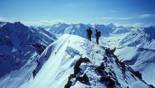 winter view to central Stubai...