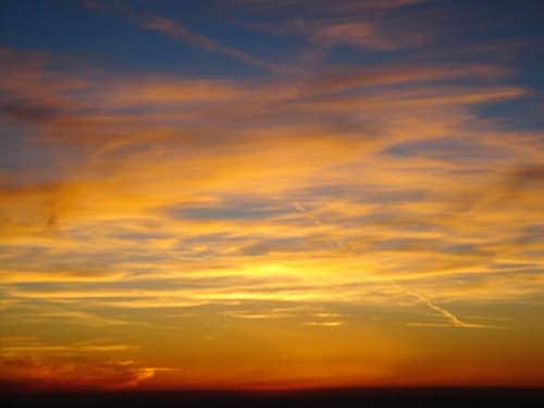 Sunset on August 9th, 2005...
