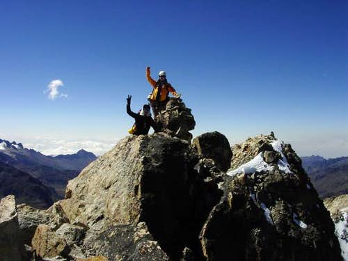Summit of Charquini (5392m)....