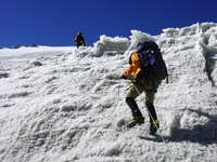 Accessing the glacier on...