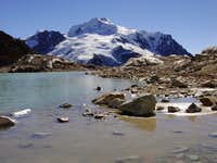 One of the glacial tarns on...