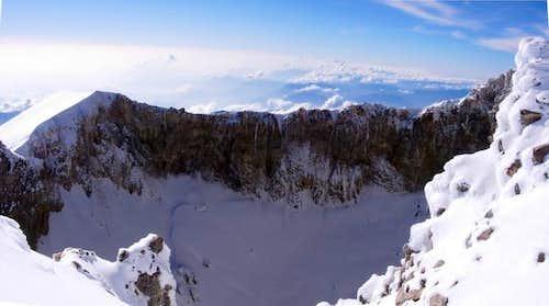 PIco De Orizaba crater rim -...