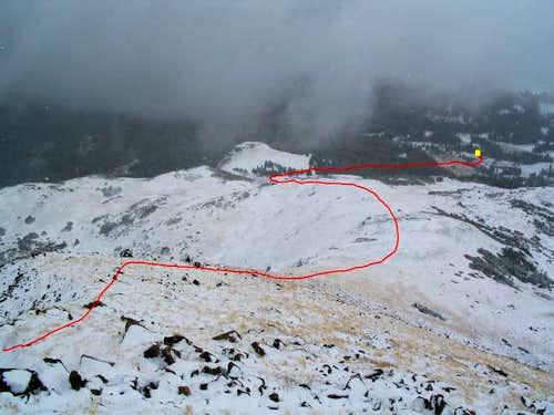 South Rawah Peak, East Ridge,...