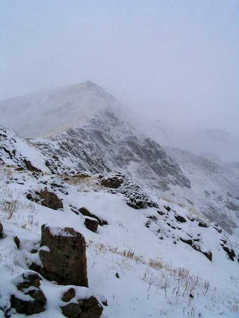 South Rawah Peak, base of...