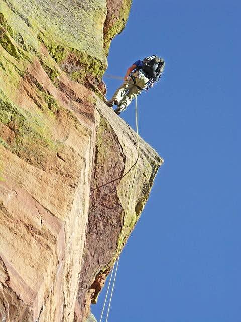 Rappel from the Friday\'s Folly Ledge