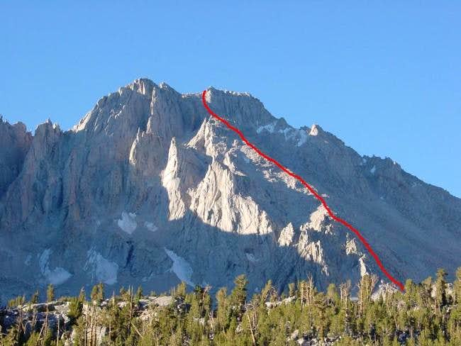 The North Face route on...