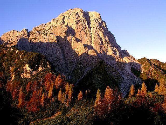 Monte Sernio NE face, early...