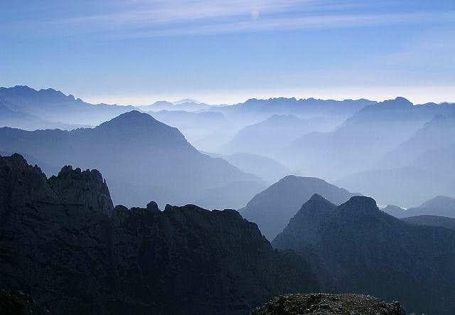 The view from Monte Sernio...