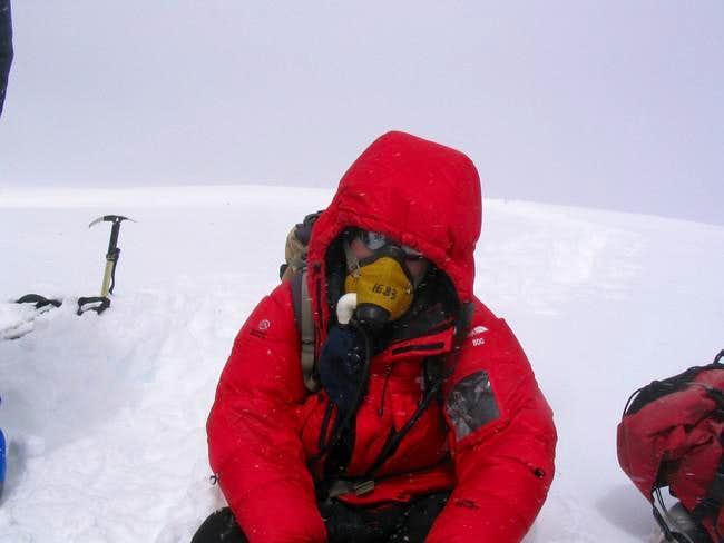 Jan van der Meer on summit...