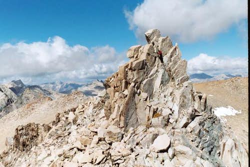 Mt Gould's summit blocks...