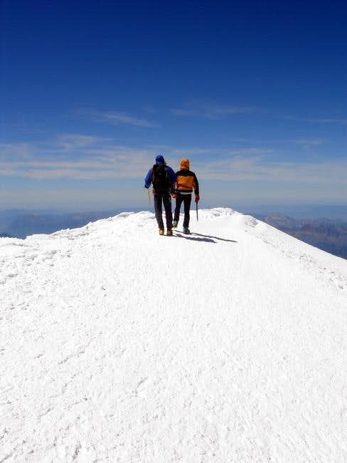 The summit of the Mont-Blanc....