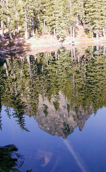 Reflection of Mount Yoran in...