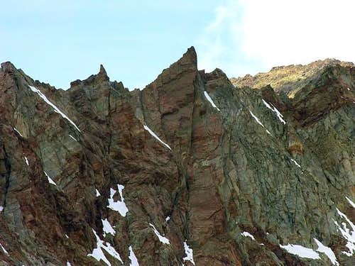 View of the jagged crest...