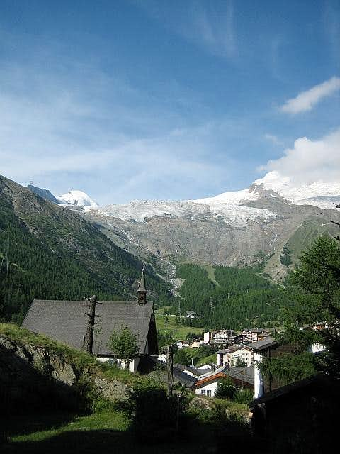 The village of Saas Fee is...