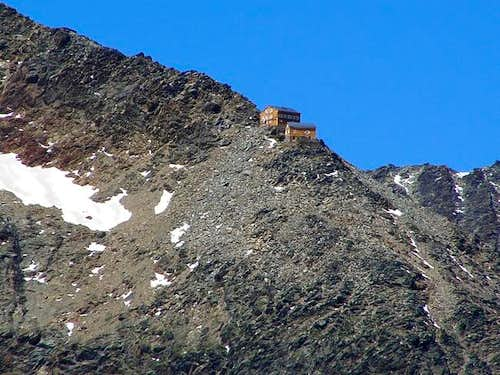 The Mischabel huts. 3.329 m....