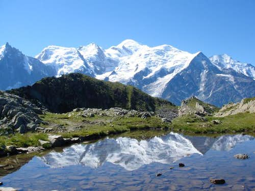 Mont Blanc viewed from the...