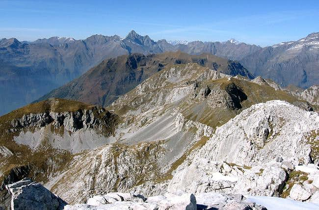 From the summit, Pizzo Coca,...
