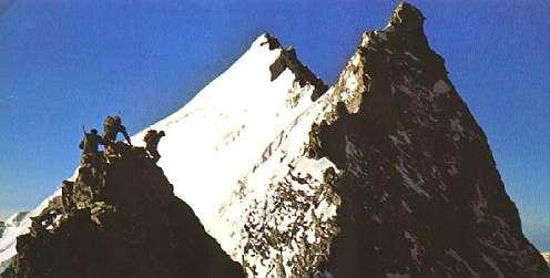 climbing the nord ridge of...