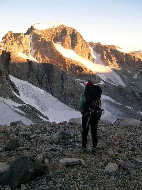 Sunrise on top of Bonney Pass...