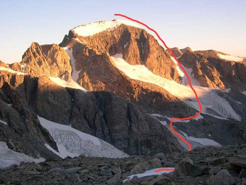 Gannett Peak's East side as...