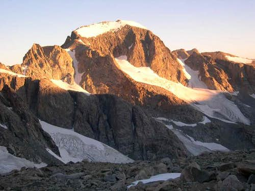Sunrise on Gannett Peak as...
