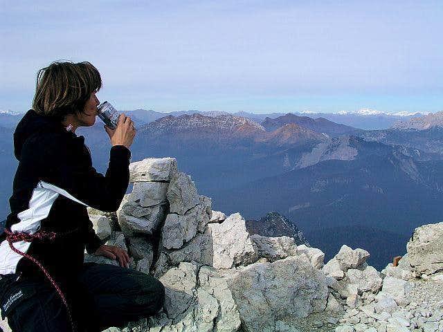 On the summit of Creta...