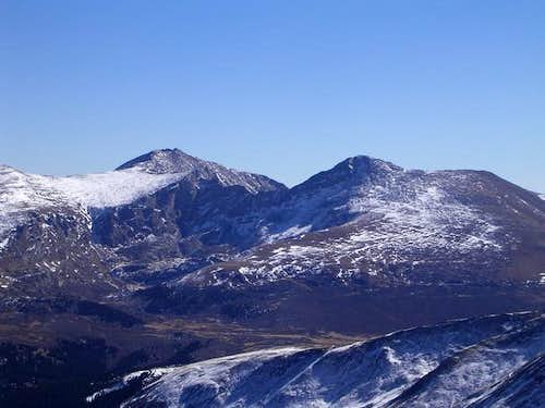 Mt Evans & Mt Bierstadt, seen...