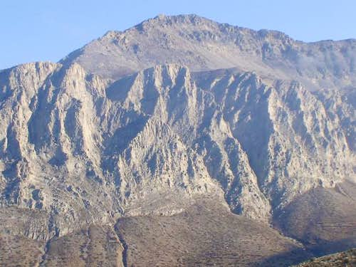 The main area of the climb...