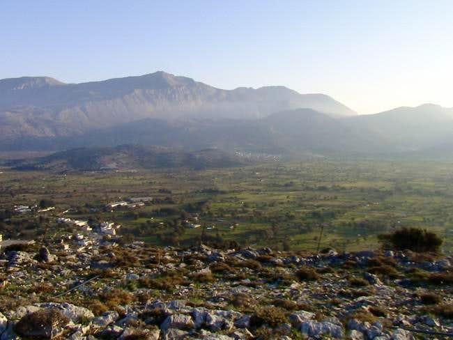 Panorama of the Lassithi...
