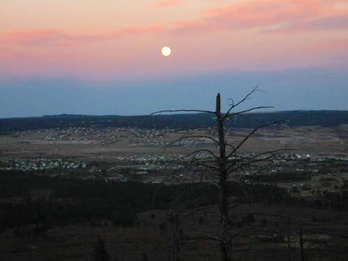 Moonrise from the Mt. Herman...
