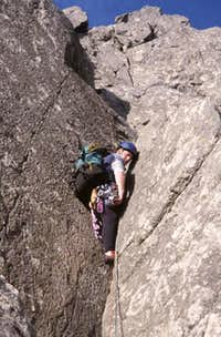 Pitch one of Grooved Arete....