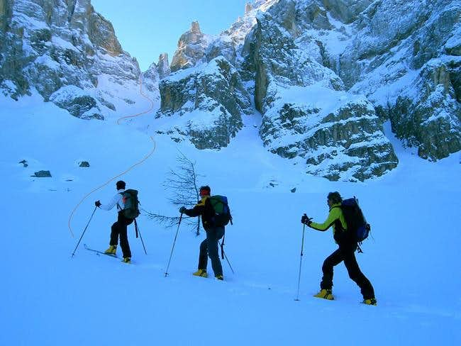 Cima della Vezzana ski tour...