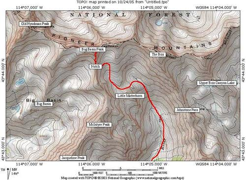 Big Basin Peak\'s South Ridge...