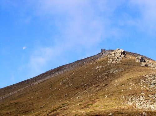 Titov Vrv peak and moon -...