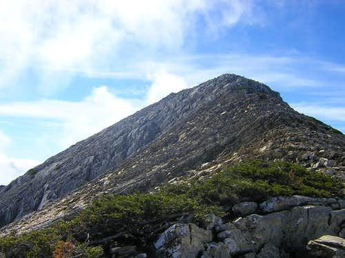 The west face of Torrecilla...