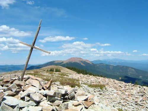 Veiw of Baldy from summit of...