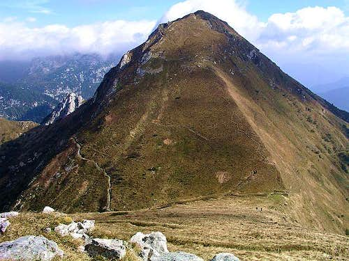 Monte Pizzul from the West,...