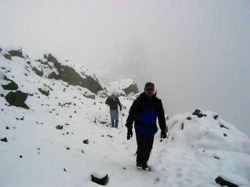 Start of the ridge traverse,...