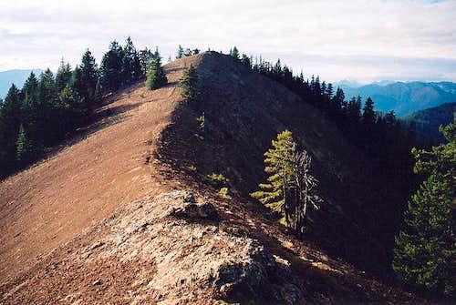 The true summit (5,034 ft)...
