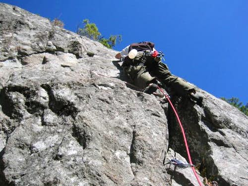 Jim leading the South Crack...
