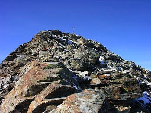 The summit of becca di Viou...