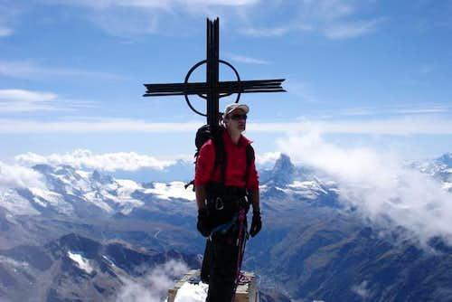 summit of Täschhorn, view on...