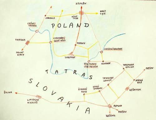 Roads around Tatra Group....