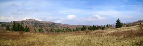 A fall panoramic of Greyson Highlands
