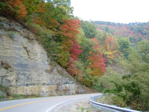 the road to the KY highpoint